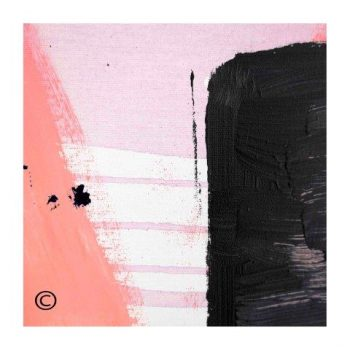 Sarah Jane abstract art print with pink tones surrounded by a small white border and called Hope IVa - Modern Detail By Sarah Jane