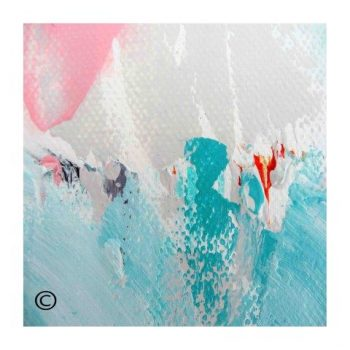 Sarah Jane colourful abstract print surrounded by a small white border and called Reaching Out LV - Modern Detail By Sarah Jane