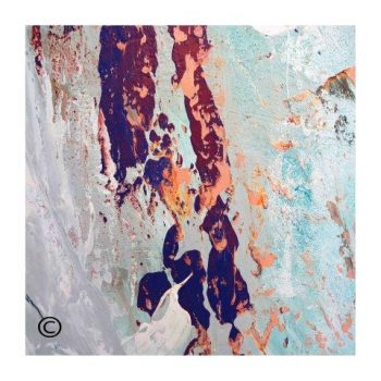 Sarah Jane colourful abstract print surrounded by a small white border and called Reaching Out XVIIa - Modern Detail By Sarah Jane