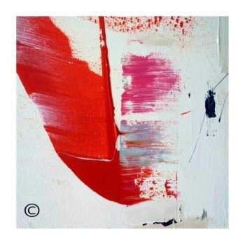 Sarah Jane colourful modern abstract art print surrounded by a small white border and called On the Move XX - Modern Detail By Sarah Jane