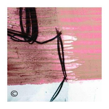 Sarah Jane modern abstract art print surrounded by a small white border and called Regal Vb - Modern Detail By Sarah Jane