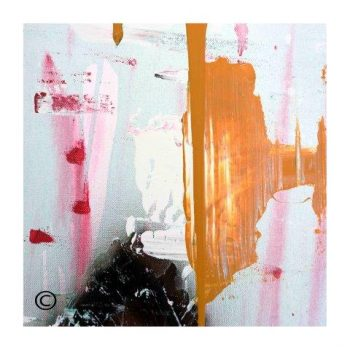 Sarah Jane modern art print of abstract colours surrounded by a small white border and called United We Stand V - Modern Detail By Sarah Jane