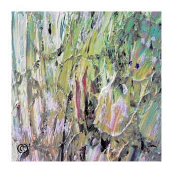Sarah Jane modern art print surrounded by a small white border and called New Life IVb - Modern Detail By Sarah Jane