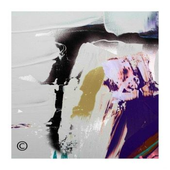 Sarah Jane modern art print with neutral colours surrounded by a small white border and called Colourful XVId - Modern Detail By Sarah Jane
