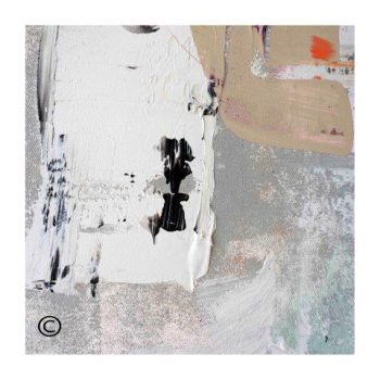 Sarah Jane modern art print with neutral colours surrounded by a small white border and called Feathers XIVa - Modern Detail By Sarah Jane