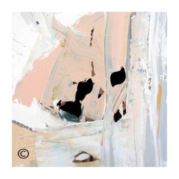 Sarah Jane soft toned abstract art print surrounded by a small white border and called Beautiful Soul III - Modern Detail By Sarah Jane