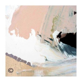 Sarah Jane soft toned abstract art print surrounded by a small white border and called Beautiful Soul VII - Modern Detail By Sarah Jane