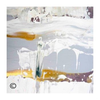 Sarah Jane soft toned abstract art print surrounded by a small white border and called Beautiful Soul XIII - Modern Detail By Sarah Jane