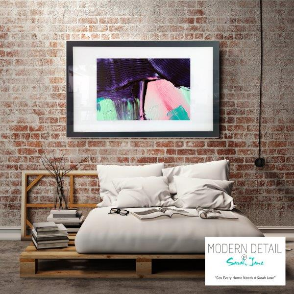 Soft Abstract Art Print for the bedroom By Artist Sarah Jane - Colour me Happy X