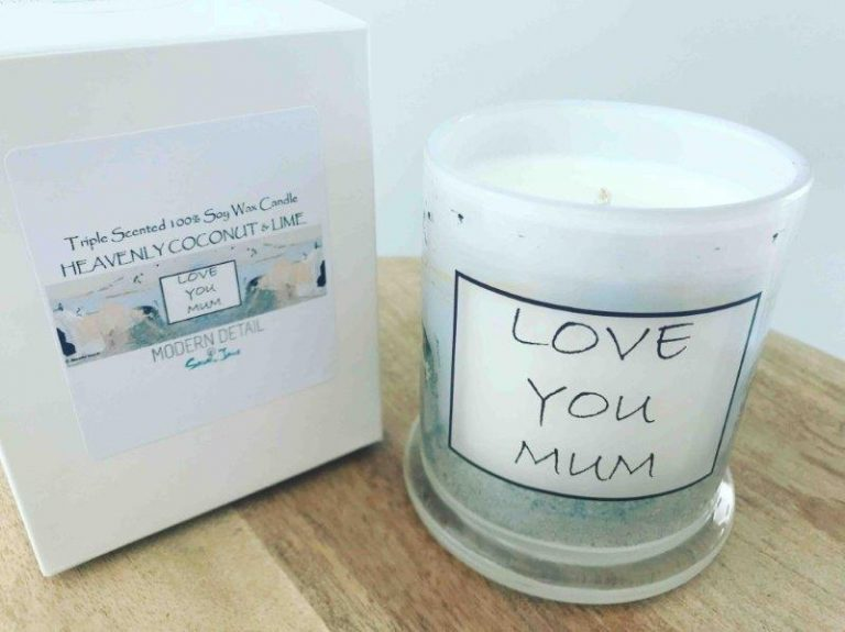 Soy Candle For Mums with soft modern Artwork - Beautiful Soul XI
