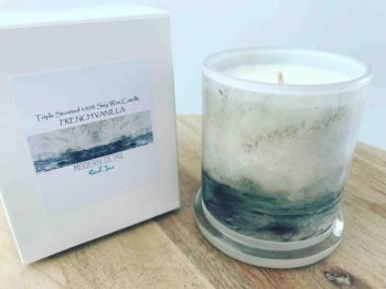 Soy Candle of the Ocean By Artist Sarah Jane - Storm III
