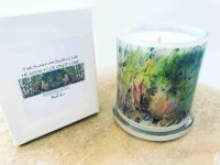 Soy Candle with colours of Monet By Artist Sarah Jane - New Life IVb