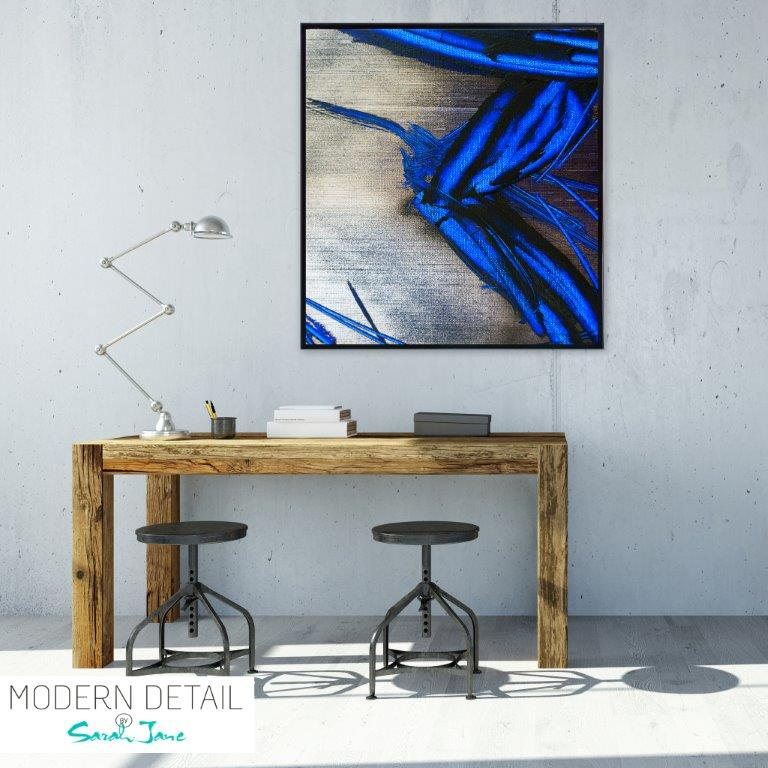 Trendy Abstract Art Print for the study By Artist Sarah Jane - Faceless III