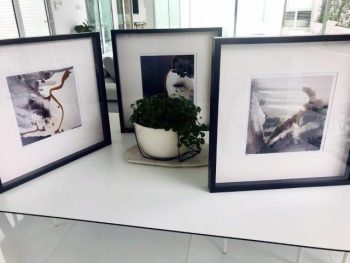 Trendy Abstract Prints in Frame - Wind of Change II, WInd of CHnage III and Wind of Change IV