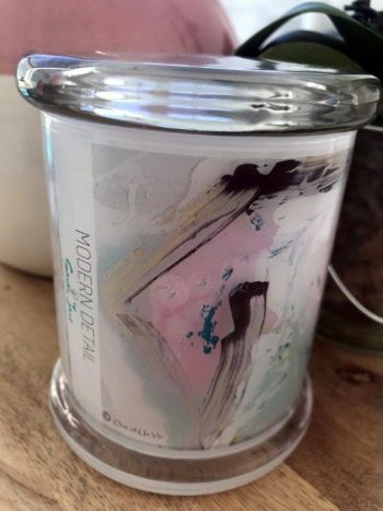 Triple Scented Soy Wax Candle with Artwork By Sarah Jane - One of Us VIc Front View