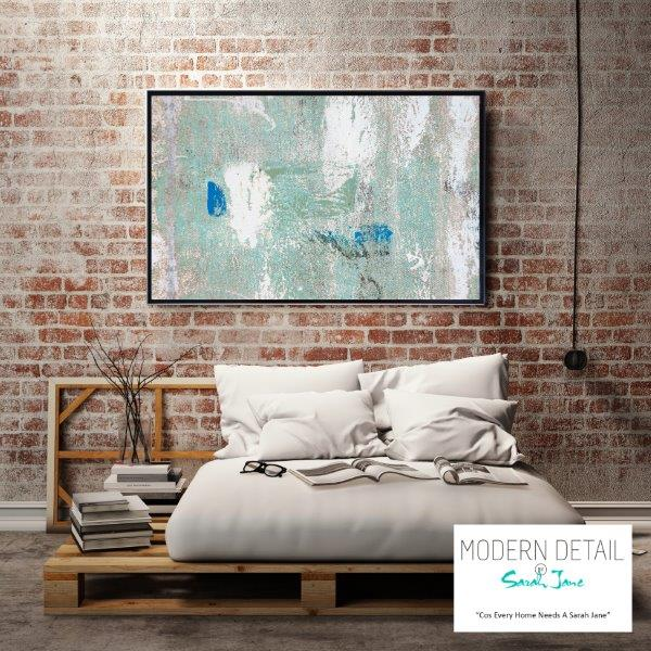 Wall decor in soft colour tones for the modern home bedroom By Sarah Jane - Boardwalk IIIe