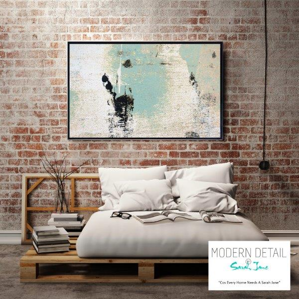 Wall decor in soft colour tones for the modern home bedroom By Sarah Jane - Boardwalk IIa