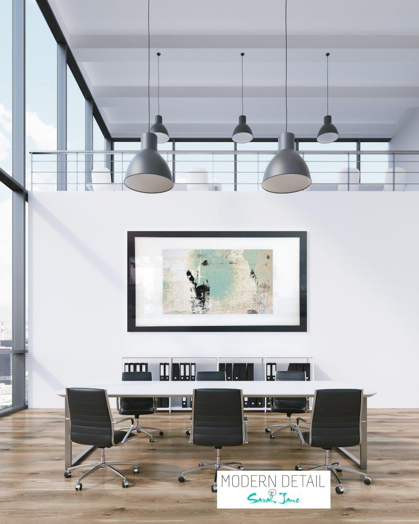 Wall decor in soft colours for office space from Modern Detail By Sarah Jane - Boardwalk IIa