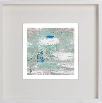White Framed Print with Abstract Art By Artist Sarah Jane - Boardwalk IIIe