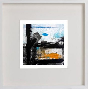 White Framed Print with Abstract Art By Artist Sarah Jane - Boardwalk VIII