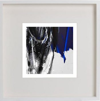 White Framed Print with Modern Art By Artist Sarah Jane - Anonymous III