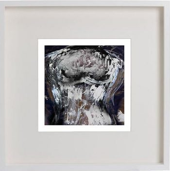 White Framed Print with Modern Art By Artist Sarah Jane - Anonymous IIa