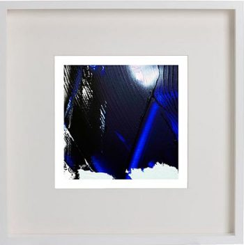 White Framed Print with Modern Art By Artist Sarah Jane - Anonymous VI