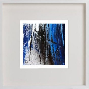 White Framed Print with Modern Art By Artist Sarah Jane - Anonymous XIV
