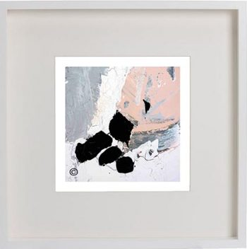 White Framed Print with Modern Art By Artist Sarah Jane - Beautiful IV