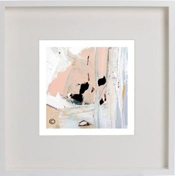 White Framed Print with Modern Art By Artist Sarah Jane - Beautiful Soul III