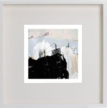 White Framed Print with Modern Art By Artist Sarah Jane - Beautiful Soul IX