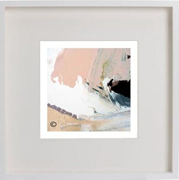 White Framed Print with Modern Art By Artist Sarah Jane - Beautiful Soul VII