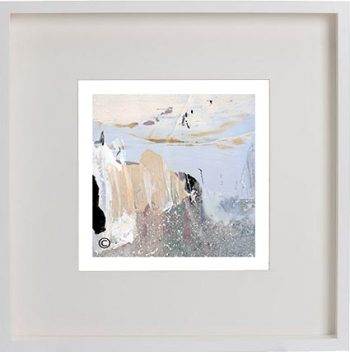 White Framed Print with Modern Art By Artist Sarah Jane - Beautiful Soul XI