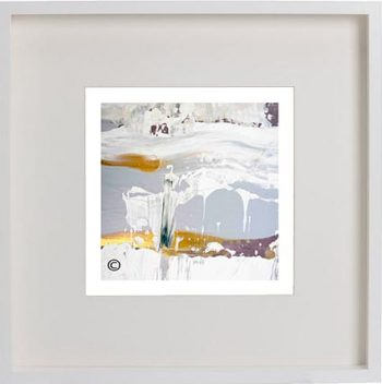 White Framed Print with Modern Art By Artist Sarah Jane - Beautiful Soul XIII