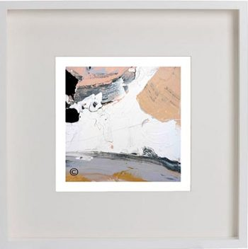 White Framed Print with Modern Art By Artist Sarah Jane - Beautiful VI