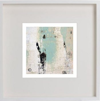 White Framed Print with Modern Art By Artist Sarah Jane - Boardwalk IIa