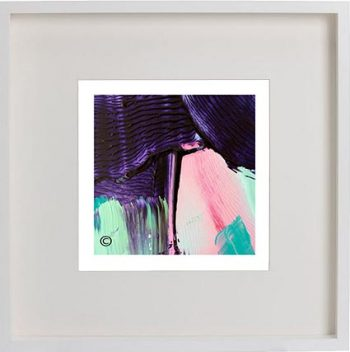 White Framed Print with Modern Art By Artist Sarah Jane - Colour me Happy X