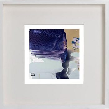 White Framed Print with Modern Art By Artist Sarah Jane - Colour me Happy XIIIe