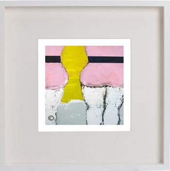 White Framed Print with Modern Art By Artist Sarah Jane - Cozzie IId