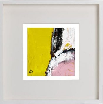 White Framed Print with Modern Art By Artist Sarah Jane - Cozzie VIIId