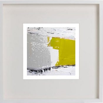 White Framed Print with Modern Art By Artist Sarah Jane - Cozzie Va