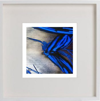 White Framed Print with Modern Art By Artist Sarah Jane - Faceless III