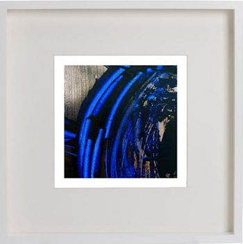 White Framed Print with Modern Art By Artist Sarah Jane - Faceless VI