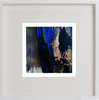 White Framed Print with Modern Art By Artist Sarah Jane - Faceless X