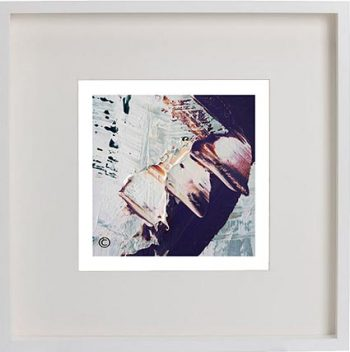 White Framed Print with Modern Art By Artist Sarah Jane - Feathers XXIIa