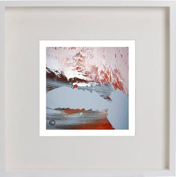 White Framed Print with Modern Art By Artist Sarah Jane - Freedom IIIa