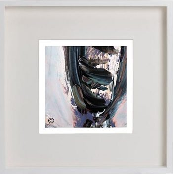White Framed Print with Modern Art By Artist Sarah Jane - Freedom IXb