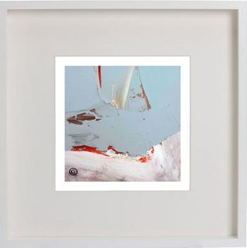White Framed Print with Modern Art By Artist Sarah Jane - Freedom XIVa