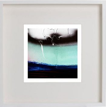 White Framed Print with Modern Art By Artist Sarah Jane - Hidden Truth V