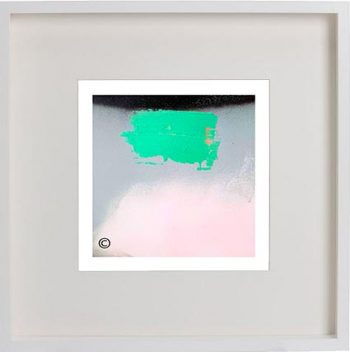 White Framed Print with Modern Art By Artist Sarah Jane - Hidden Truth Xb